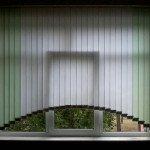ткань Лайн, цвет – Абрикос, Зеленый и Белый, арка 40 см