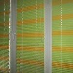 Жалюзи 25 мм зелёно-оранжевые (лента 3 и 754)