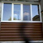 Балконная рама, Блокхаус ВН-02 Дуб светлый