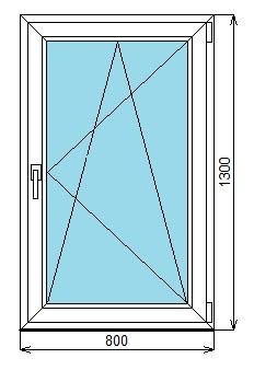 окно по 800-1300