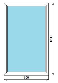 окно 800-1300 глухое