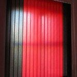 Жалюзи вертикальные 2-х цветные Лайн черный с красным под заказ в Бобруйске