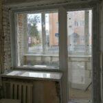 Балконный блок (глухое окно + поворотно-откидная дверь) с подоконником DANKE Marmor, без отделки откосов, в кирпичном доме Бобруйск, Кировск, Глуск, Осиповичи