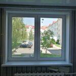 Заказать пластиковое окно 2х-створчатое с 2мя поворотно-откидными створками Brusbox-70 с откосами ПВХ Бобруйск, Кировск, Глуск, Осиповичи