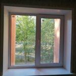 Заказать пластиковое окно 2х-створчатое Brusbox 70 c откосами из сендвич-панели Бобруйск, Кировск, Глуск, Осиповичи