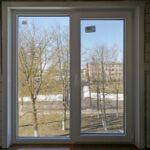 Окно 2-хстворчатое Brusbox Super Aero 70 мм с подоконником Standard, в панельном доме Глуск, Бобруйск, Кировск, Осиповичи