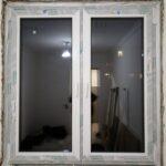 Окно c 2мя поворотно-откидными створками, в панельном доме, без подоконника и отделки в Бобруйске