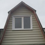 Пластиковое 2-хстворчатое окно Brusbox во фронтоне с жестяными откосами - Бобруйск, Кировск, Осиповичи, Глуск