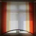 Вертикальные жалюзи из ткани Акация с аркой под заказ в Бобруйске
